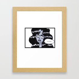 caffeinate for sanity's sake Framed Art Print