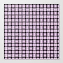 Small Pastel Violet Weave Canvas Print