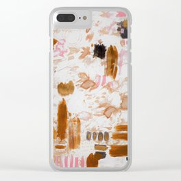 Amber and Pink Clear iPhone Case