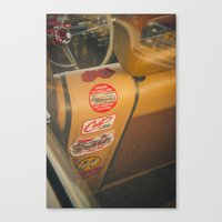 stickers Canvas Prints featuring Rear seat stickers by Felix Padrosa Photography