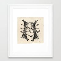 boxing Framed Art Prints featuring Boxing Hares. by NVM Illustration