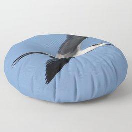 Sandwich Tern In Flight Vector Floor Pillow