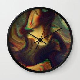 mona lisa gioconda marble Wall Clock
