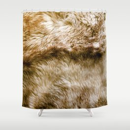 Fluffy Fur (NOT REAL FUR/PHOTO OF FUR) Shower Curtain