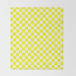 Small Checkered - White and Yellow Throw Blanket