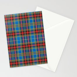 Tartan blue and red Stationery Cards
