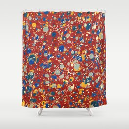 Organic Vintage Texture Shower Curtain