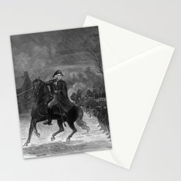 George Washington At The Battle Of Trenton Stationery Cards