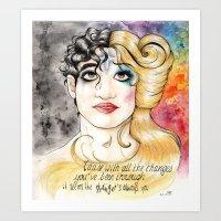 hedwig Art Prints featuring Darren/Hedwig by MerrytheCookie