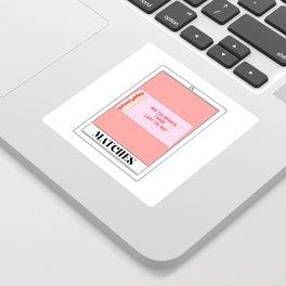 the matches tarot card Sticker