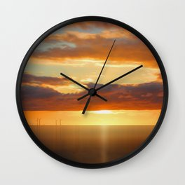 Irish Sea - Heavy Skys (Digital Art) Wall Clock