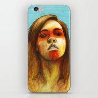megan lara iPhone & iPod Skins featuring Megan by Alice Teal