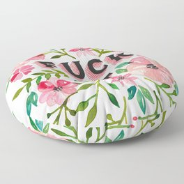 Fuck It – Pink & Green Floral Palette Floor Pillow