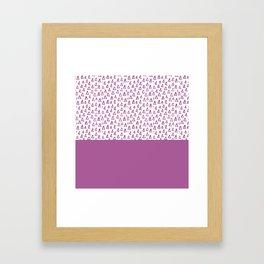 Triangles Purple Framed Art Print