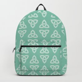 Green Celtic Knot: Trinity Knot Backpack
