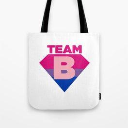 Team B Bisexual Symbol - Bi Sexual Flag Sign Gift Design Tote Bag