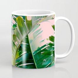 leaves on pink Coffee Mug