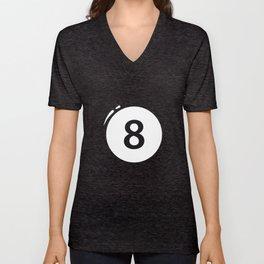 8 ball Unisex V-Neck