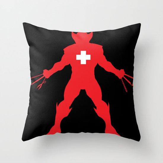Weapon-Swiss Throw Pillow