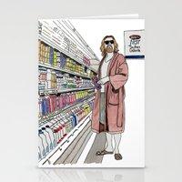 lebowski Stationery Cards featuring Jeffrey Lebowski and Milk. by DJayK