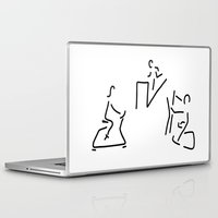 fitness Laptop & iPad Skins featuring fitness hometrainer crosstrainer sport by Lineamentum