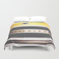 truck Duvet Covers featuring Old truck by Julia Goss Photography