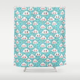 Happy Clouds Shower Curtain