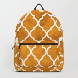 Classic Quatrefoil Lattice Pattern 903 Yellow Backpack