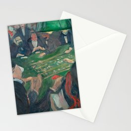 Edvard Munch - At the Roulette Table in Monte Carlo Stationery Cards