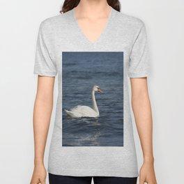 White swan Cygnus Unisex V-Neck