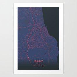Bray, Ireland - Neon Art Print