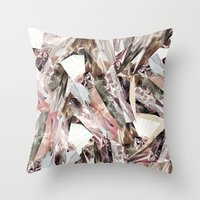 pattern Throw Pillows featuring Arnsdorf SS11 Crystal Pattern by RoAndCo
