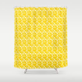 Lattice Pattern (Yellow) Shower Curtain