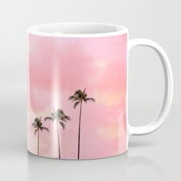 Palm Trees Photography | Hot Pink Sunset Coffee Mug