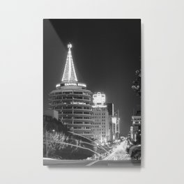 Christmas in Hollywood - day one b&w Metal Print