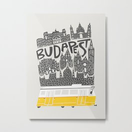 Budapest Cityscape Metal Print