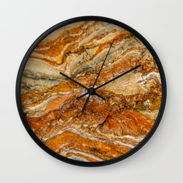 Orange Rock Texture Wall Clock