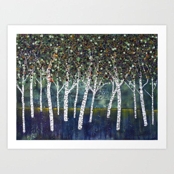 Evening Aspens Art Print