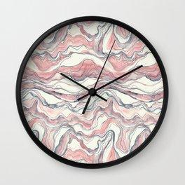 Watercolor marble fabric Wall Clock