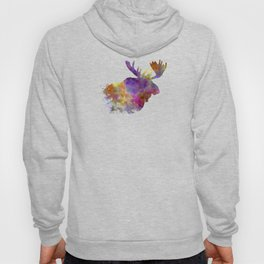 Moose 04 in watercolor Hoody