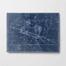 Aries sky star map Metal Print