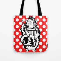 guinea pig Tote Bags featuring Guinea Pig Baking Extraordinaire  by Katy Shorttle