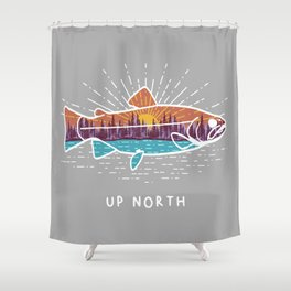 Up North Fish Shower Curtain