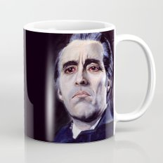Christopher Lee as Dracula: He is the embodiment of all that is evil. Mug