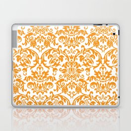 Elegant Damask Pattern (orange) Laptop & iPad Skin