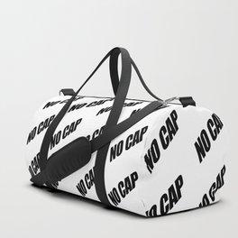 NO CAP Black Minimal Pattern Duffle Bag