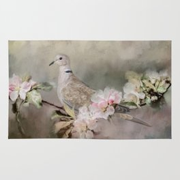 Eurasian Dove In The Garden Rug