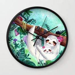 Sloths Love Wall Clock