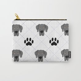 Blue Great Dane Paw Print Pattern Carry-All Pouch