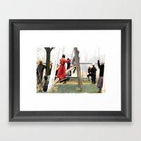 MORNING RECESS Framed Art Print